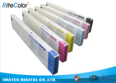 Cina Odorless Wide Format Inks , 440ML Eco Sol Max Ink Cartridges With Chips pemasok