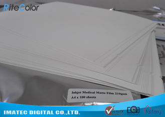 Matte White Transparent Ultrasound Film , PET Inkjet Medical X - Ray Film