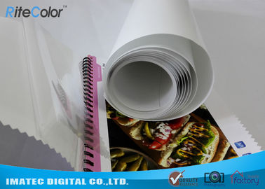 Cina Eco Solvent PP Synthetic Paper , Adhesive Matte Polypropylene Film Rolls pabrik